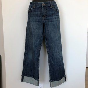 !iT Cropped Jeans Med Wash Mid Rise Sz 31
